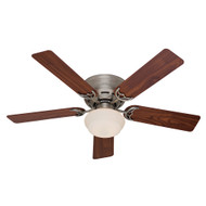 "Hunter 52"" Low Profile III Plus Antique Pewter Ceiling Fan with Light 53074"