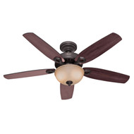 "Hunter 52"" Builder Deluxe New Bronze Ceiling Fan with Light 53091"