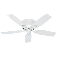 "Hunter 48"" Sea Wind White Ceiling Fan 53119"