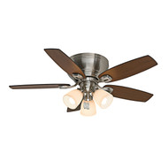 "Casablanca 44"" Durant Brushed Nickel Ceiling Fan with Light"