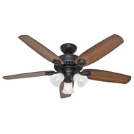 "Hunter 52"" Builder Plus New Bronze Ceiling Fan with Light 53238"