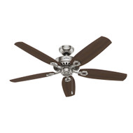 "Hunter 52"" Builder Elite ENERGY STAR Brushed Nickel Ceiling Fan 53241"