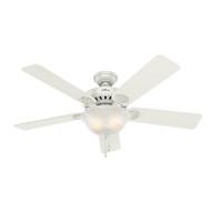 """Hunter 52"""" Pro's Best Five Minute Fan White Ceiling Fan with Light 53251"""