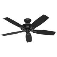 "Hunter 52"" Rainsford Matte Black Ceiling Fan 53348"