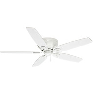 "Casablanca 54"" Durant Snow White Ceiling Fan"