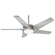 "Casablanca 54"" Stealth Brushed Nickel Ceiling Fan with Light and Remote"