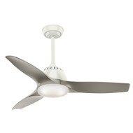 "Casablanca 44"" Wisp Fresh White Ceiling Fan with Light and Remote"