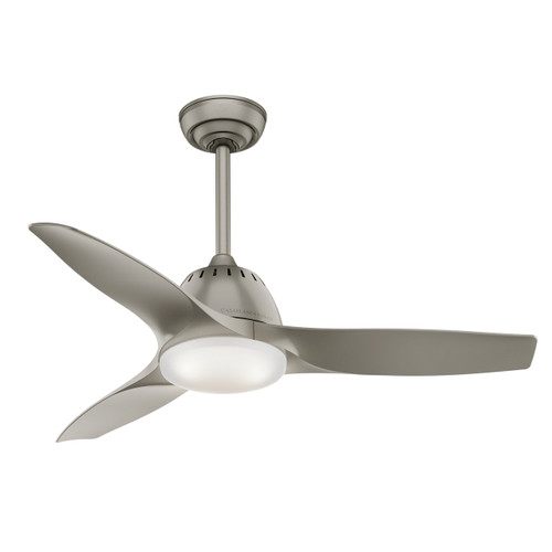 """Casablanca 44"""" Wisp Pewter Ceiling Fan with Light and Remote"""