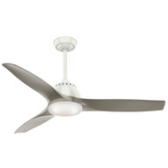 "Casablanca 52"" Wisp Fresh White Ceiling Fan with Light and Remote"