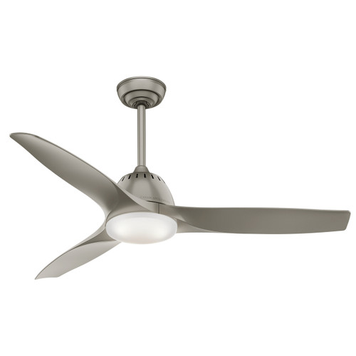 "Casablanca 52"" Wisp Pewter Ceiling Fan with Light and Remote"