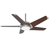 "Casablanca 54"" Stealth DC Brushed Nickel Ceiling Fan with Light and Remote"