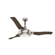 "Casablanca 64"" Perseus Brushed Nickel Ceiling Fan with Light and Remote"
