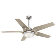 "Casablanca 56"" Correne Brushed Nickel Ceiling Fan with Light and Remote 59197"