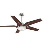 "Casablanca 56"" Correne Brushed Nickel Ceiling Fan with Light and Remote 59198"