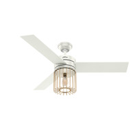 "Hunter 52"" Ronan Fresh White Ceiling Fan with Light and Remote 59238"