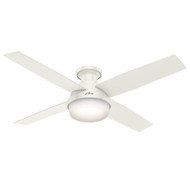 "Hunter 52"" Dempsey Fresh White Ceiling Fan with Light and Remote 59242"