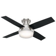 "Hunter 44"" Dempsey Brushed Nickel Ceiling Fan with Light and Remote 59243"