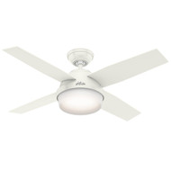 "Hunter 44"" Dempsey Fresh White Ceiling Fan with Light and Remote 59246"
