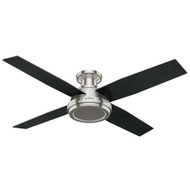 "Hunter 52"" Dempsey Brushed Nickel Ceiling Fan with Remote 59247"