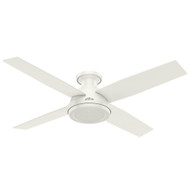 "Hunter 52"" Dempsey Fresh White Ceiling Fan with Remote 59248"