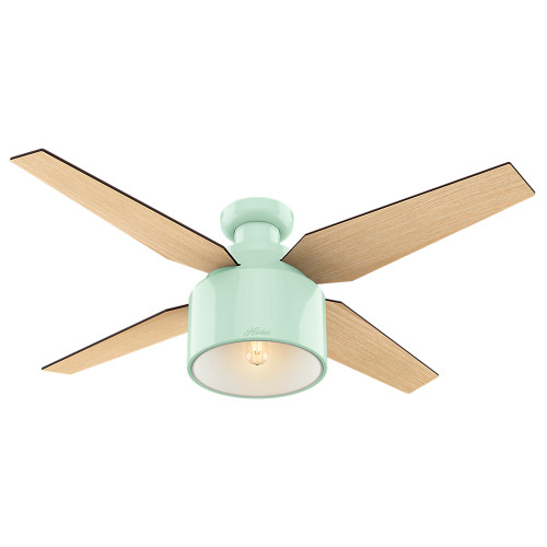 """Hunter 52"""" Cranbrook Mint Ceiling Fan with Light and Remote 59260"""
