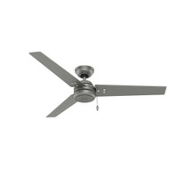 "Hunter 52"" Cassius Matte Silver Ceiling Fan 59262"