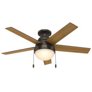 "Hunter 46"" Anslee Premier Bronze Ceiling Fan with Light 59268"