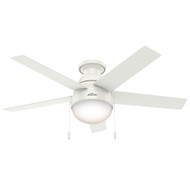 "Hunter 46"" Anslee Fresh White Ceiling Fan with Light 59269"