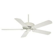 "Casablanca 54"" Panama DC Snow White Ceiling Fan with Remote"