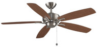 Fanimation FP6284BN Aire Deluxe Brushed Nickel 52-inch Ceiling Fan