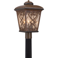 Quoizel Fort Quinn 19-inch Outdoor Post Lantern Fixture Antique Brown FQ9011AW