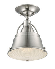 Ashley Harbour  8-inch Small Semi Flush Mount Fixture Brushed Nickel LWS1524H