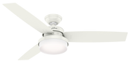 "Hunter 52"" Remote Control Ceiling Fan & LED Light Sentinel Fresh White 59169 -OPEN BOX SPECIAL"