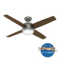 """Hunter 52"""" Indoor/Outdoor Ceiling Fan Oceana WeatherMax Matte Silver 59616- OPEN BOX SPECIAL"""