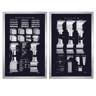 Uttermost Architectural Elements Wall Prints Set of 2 by Grace Feyock 41546
