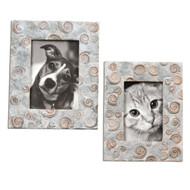 Uttermost Spirula Photo Frames Set of 2: 10X7 & 10X9 18566