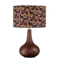 """Quoizel Brown Ceramic Retro Mid-Century Table Lamp 21""""H x 13.5""""W 1-Light Q1592T"""