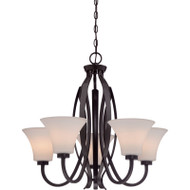 "Illumina Direct 25"" Chandelier 5 Light Fixture Vintage Bronze Finish TST2222A"