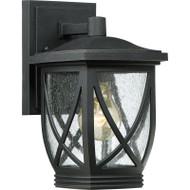 "Quoizel Tudor 10.5"" Outdoor Small Wall Lantern Mystic Black TDR8406K"