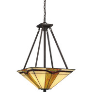 "Illumina Direct TST3066A - Tiffany Pendant 16""W Valiant Bronze Finish 3-Light"