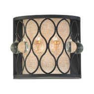 "Illumina Direct TST2969H - Pocket Wall Sconce 8""W Mystic Black Finish 1-Light"