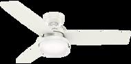 "Hunter 52"" Remote Control Ceiling Fan & LED Light Sentinel Fresh White 59169"