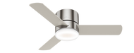"""HUNTER 44"""" Low Profile Remote Control Ceiling Fan Minimus Brushed Nickel 59454- OPEN BOX SPECIAL"""