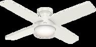 "Hunter 52"" Remote Control Ceiling Fan Dempsey Low Profile Fresh White 59242"