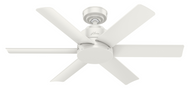 "HUNTER 44"" Indoor/Outdoor Ceiling Fan Kennicott Fresh White SureSpeed 59614"