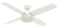 "Hunter 52"" Remote Control Ceiling Fan Dempsey (NO LIGHT) Fresh White 59250 - OPEN BOX SPECIAL"
