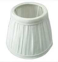 Casablanca S105 White Fabric Side Mini Shades; Candelabra Bulb Base - Case of 18