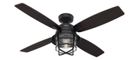 Hunter 52 Inch Remote Control Ceiling Fan Port Royale Natural Iron 50391- OPEN BOX SPECIAL