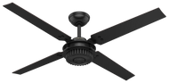 Hunter 59235 Chronicle 54-inch Outdoor Ceiling Fan, Wall Control, Matte Black-OPEN BOX SPECIAL