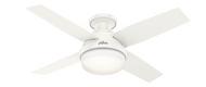 Hunter 44 Inch Remote Control Ceiling Fan Dempsey Fresh White 50399